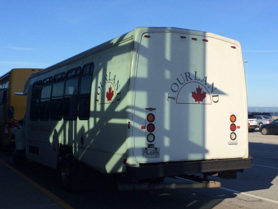 ビクトリア島へのツアーバス