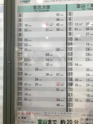 高岡駅 時刻表