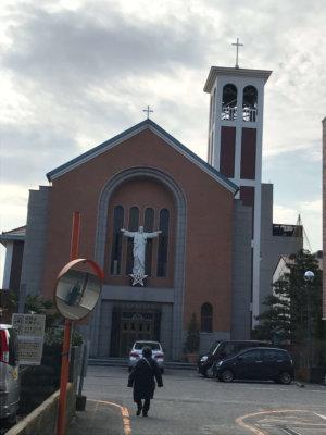 カトリック金沢教会 遠景
