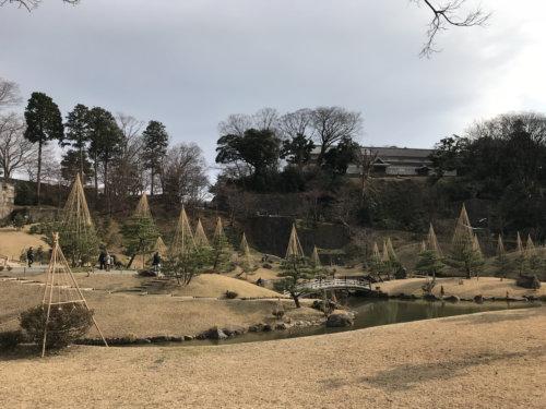 玉泉院丸庭園 遠景