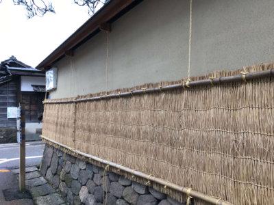 浅野川沿い 雪準備壁