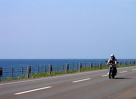 北海道 海沿い バイク