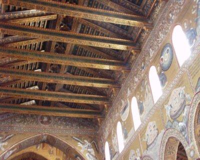 モンレアーレ大聖堂 天井